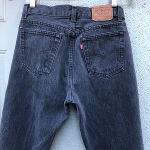 [vintage] RARE Levi's 701 button fly grey jeans